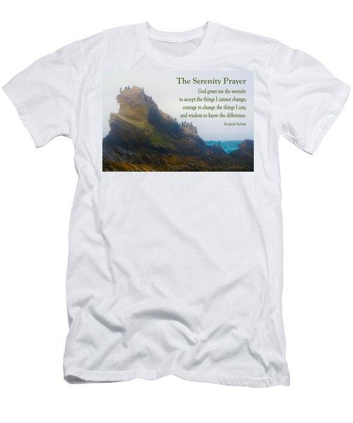 The Serenity Prayer Bird Rock Men's T-Shirt (Athletic Fit)