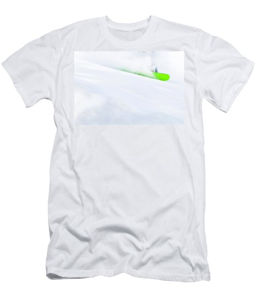 The Snowboarder And The Snow Men's T-Shirt (Athletic Fit)