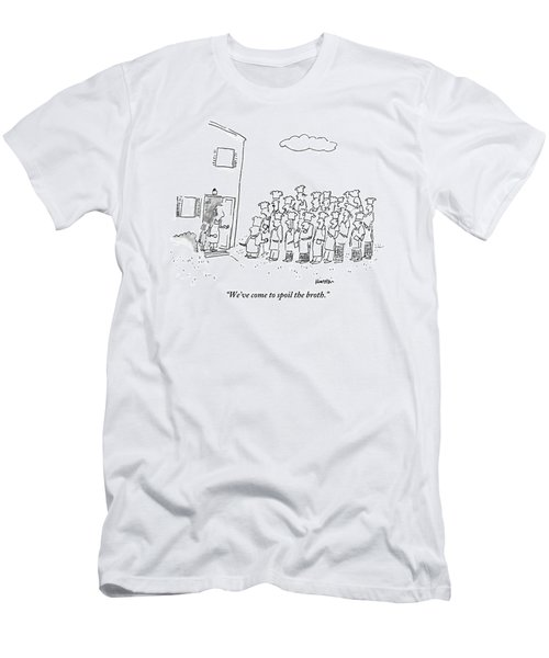 The Spokesman For A Hoard Of Chefs Addresses Men's T-Shirt (Athletic Fit)