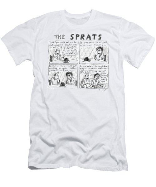 The Sprats  -  Four Panel Comic About The Sprats' Men's T-Shirt (Athletic Fit)