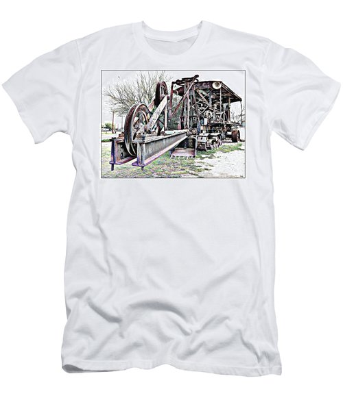 The Steam Shovel Men's T-Shirt (Slim Fit) by Glenn McCarthy Art and Photography