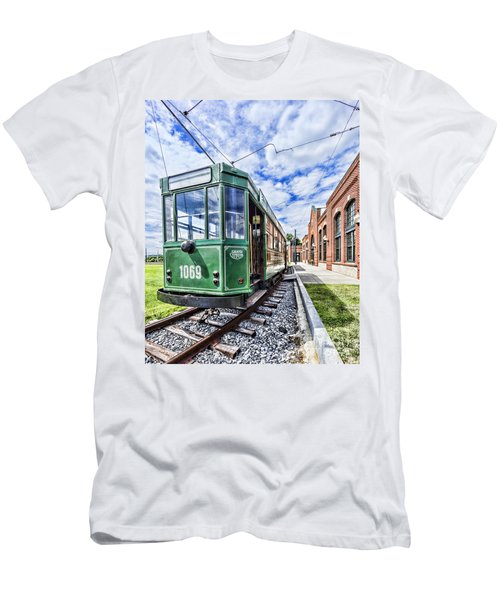 The Stib 1069 Streetcar At The National Capital Trolley Museum I Men's T-Shirt (Athletic Fit)