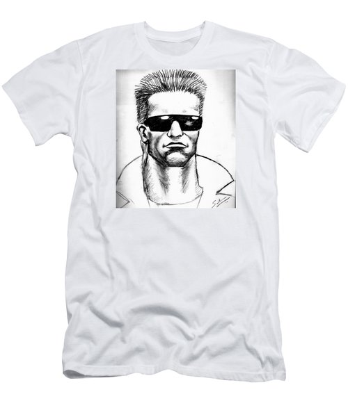 Men's T-Shirt (Slim Fit) featuring the painting Arnold Schwarzenegger by Salman Ravish