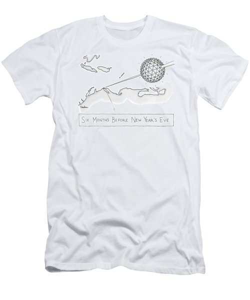 The Times Square Ball Is High Above The Northeast Men's T-Shirt (Athletic Fit)