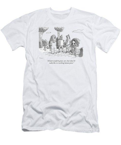 The Tin Man Of The Wizard Of Oz Speaks Men's T-Shirt (Athletic Fit)
