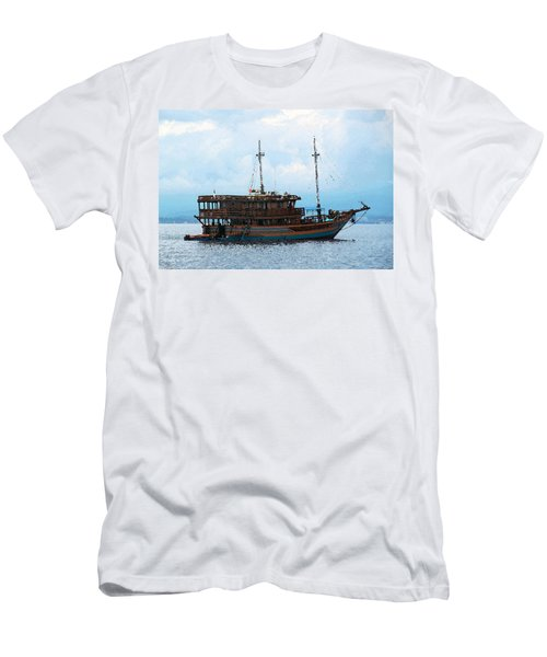 Men's T-Shirt (Slim Fit) featuring the photograph The Trip To Bunaken by Sergey Lukashin