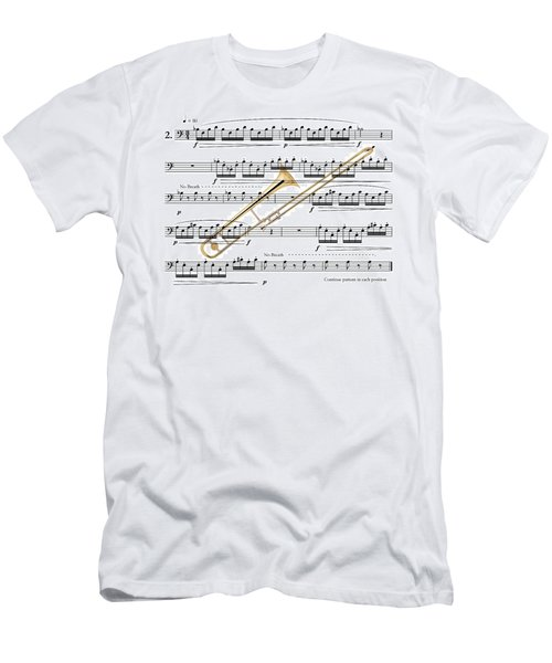 The Trombone Men's T-Shirt (Slim Fit) by Ron Davidson