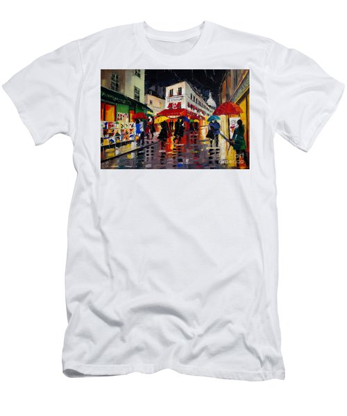 The Umbrellas Of Montmartre Men's T-Shirt (Slim Fit)