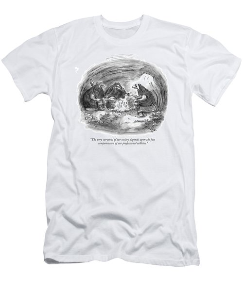 The Very Survival Of Our Society Depends Men's T-Shirt (Athletic Fit)