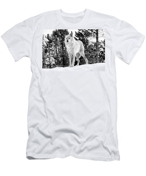 The Wolf  Men's T-Shirt (Slim Fit) by Fran Riley