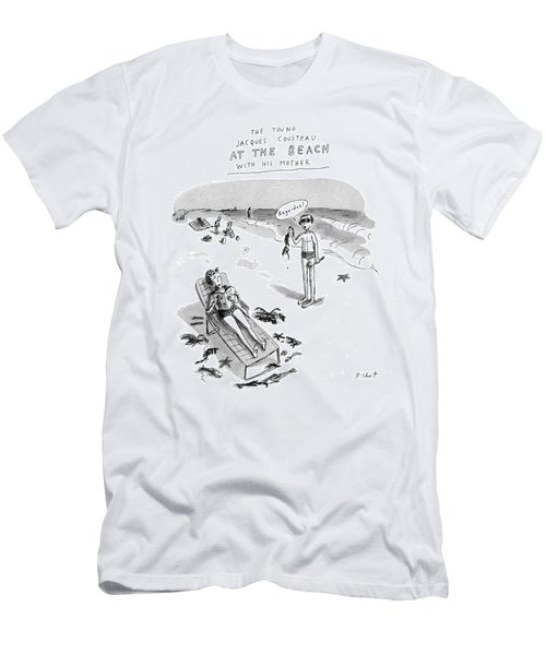 The Young Jacques Cousteau At The Beach Men's T-Shirt (Athletic Fit)