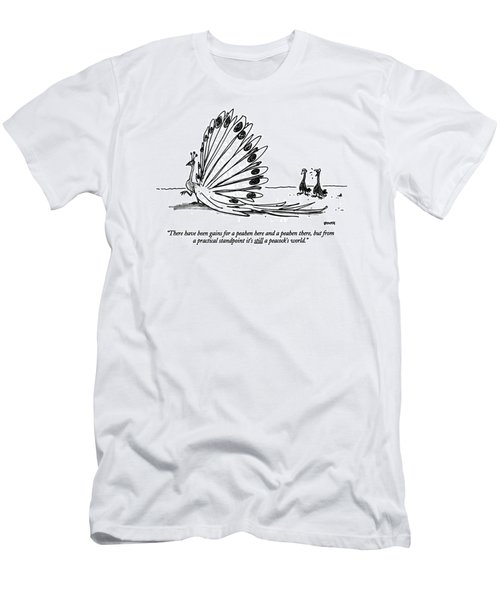 There Have Been Gains For A Peahen Here Men's T-Shirt (Athletic Fit)