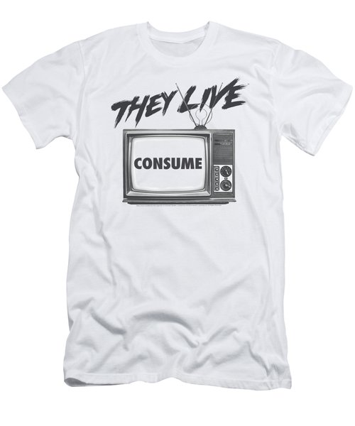 They Live - Consume Men's T-Shirt (Athletic Fit)