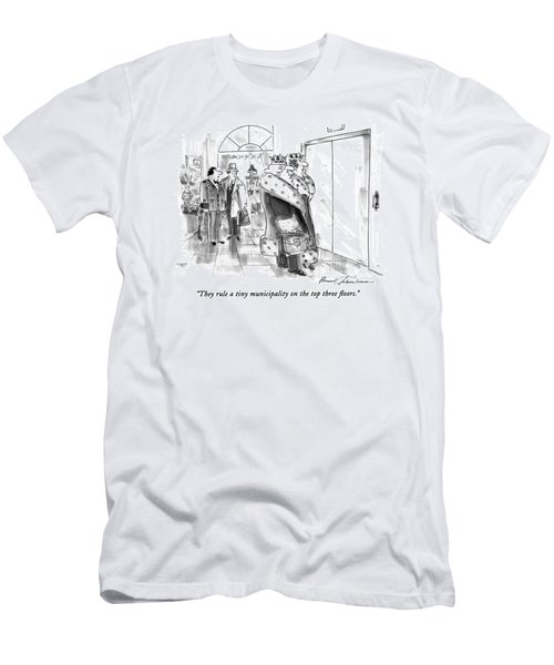 They Rule A Tiny Municipality On The Top Three Men's T-Shirt (Athletic Fit)