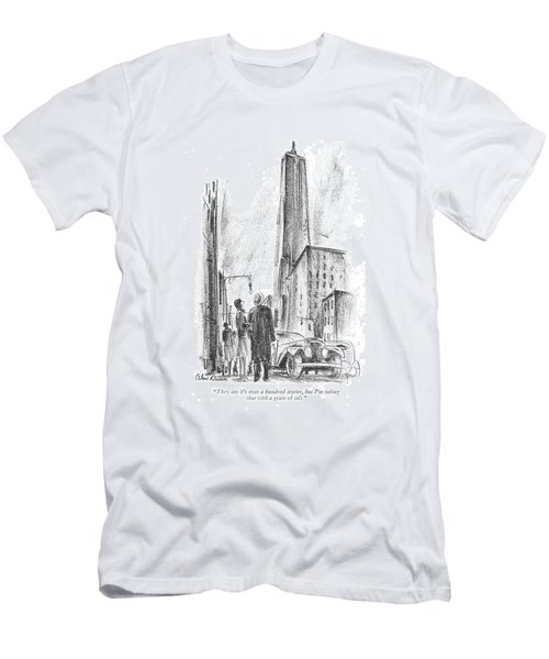 They Say It's Over A Hundred Stories Men's T-Shirt (Athletic Fit)