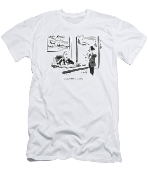 They Say They're Indians Men's T-Shirt (Athletic Fit)