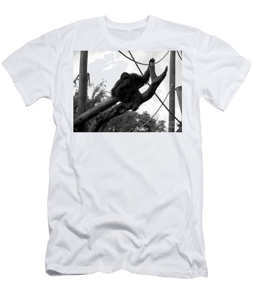 Men's T-Shirt (Slim Fit) featuring the photograph Thinking Of You Black And White by Joseph Baril