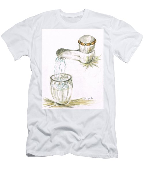 Men's T-Shirt (Slim Fit) featuring the painting Thirsty Of Water by Teresa White