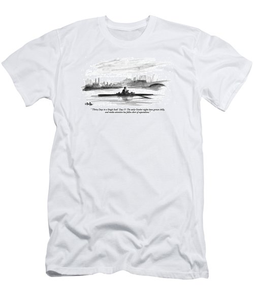 'thirty Days In A Single Scull.' Day 17: Men's T-Shirt (Athletic Fit)