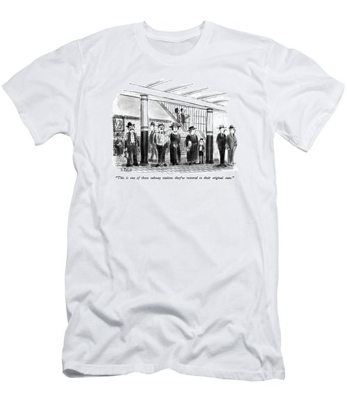 This Is One Of Those Subway Stations They've Men's T-Shirt (Athletic Fit)