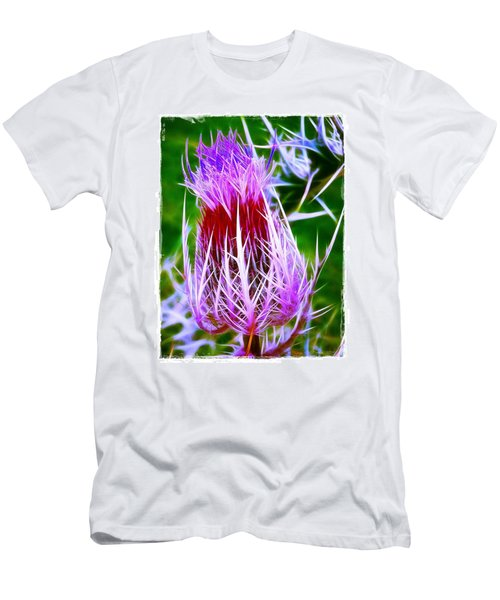 Men's T-Shirt (Slim Fit) featuring the photograph Thistle by Judi Bagwell