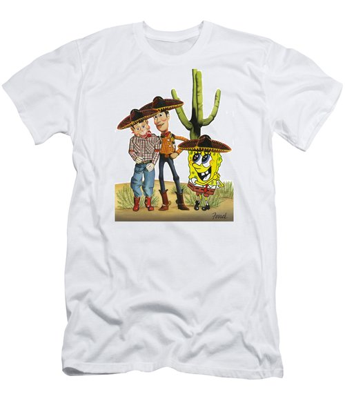 Three Amigos Men's T-Shirt (Athletic Fit)