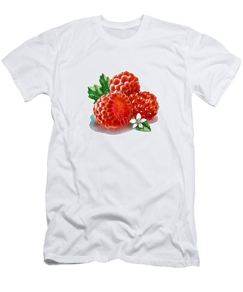 Three Happy Raspberries Men's T-Shirt (Slim Fit) by Irina Sztukowski