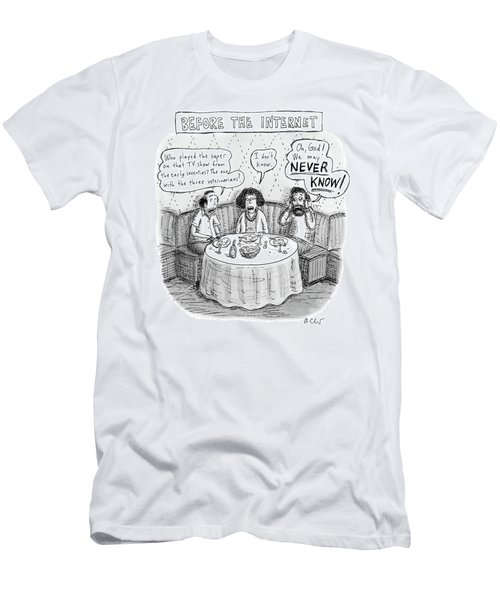 Three Late-middle Aged People Sitting Men's T-Shirt (Athletic Fit)