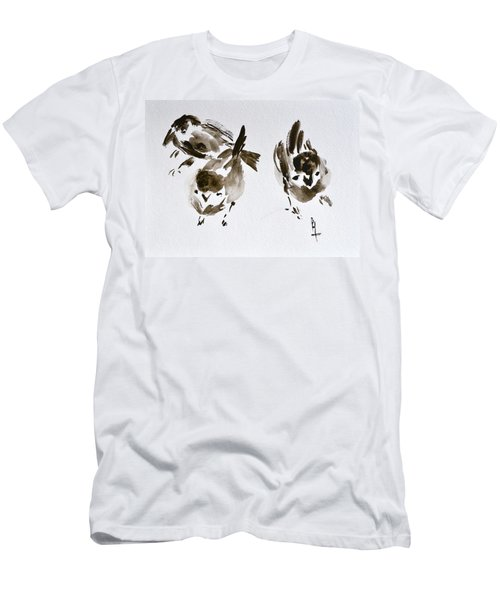 Three Little Birds Perch By My Doorstep Men's T-Shirt (Athletic Fit)