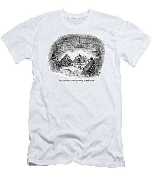 Three Mobsters Sit Underneath A Lamp In A Dark Men's T-Shirt (Athletic Fit)