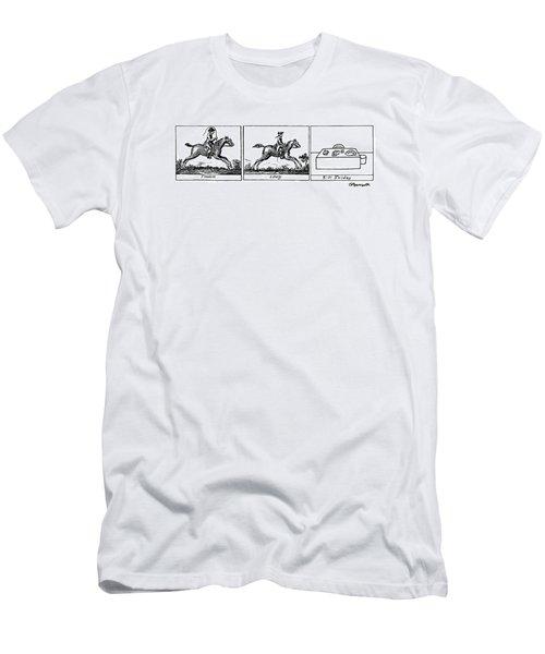 Three Panels Men's T-Shirt (Athletic Fit)