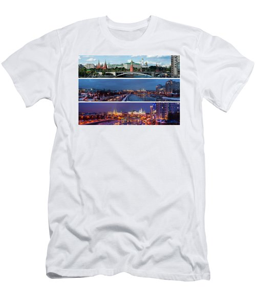 Three Panoramas Of Moscow Kremlin - Featured 3 Men's T-Shirt (Athletic Fit)