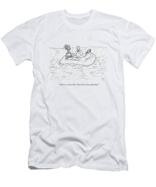 Three People Are In A Lifeboat. Two Of Them Eat Men's T-Shirt (Athletic Fit)