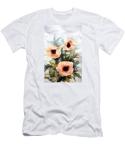Three Poppies Men's T-Shirt (Slim Fit) by William Renzulli