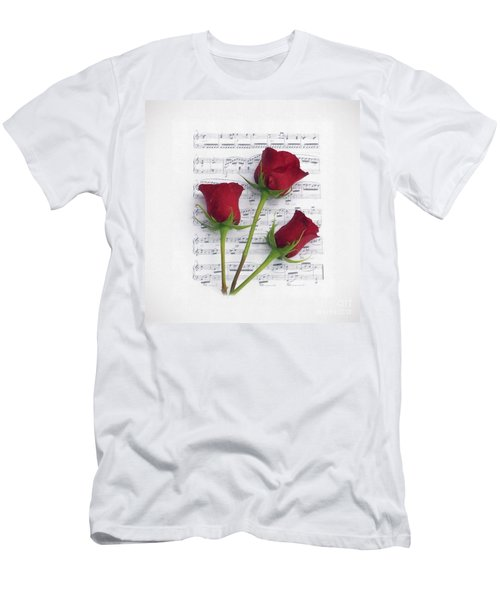 Three Rose Music Duvet Men's T-Shirt (Athletic Fit)