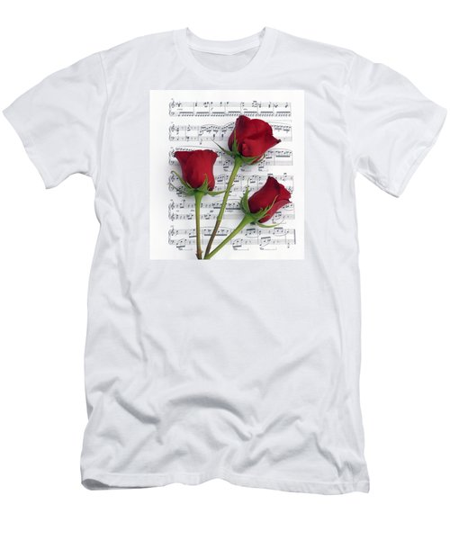 Three Rose Music Men's T-Shirt (Athletic Fit)