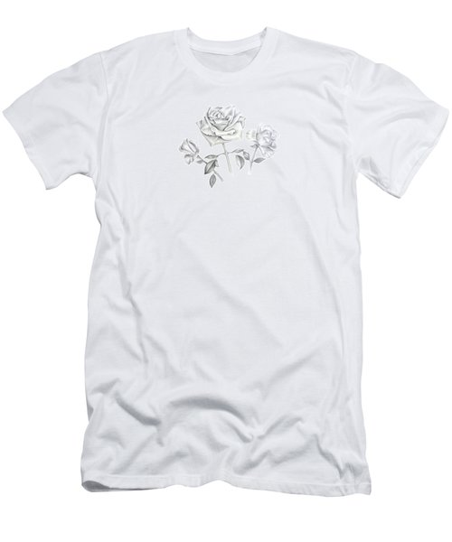 Three Roses Men's T-Shirt (Slim Fit) by Elizabeth Lock