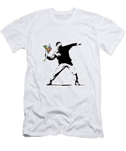 Throwing Love Men's T-Shirt (Slim Fit) by Munir Alawi