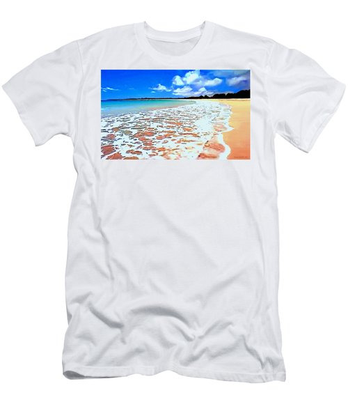 Men's T-Shirt (Slim Fit) featuring the painting Tidal Lace by Sophia Schmierer