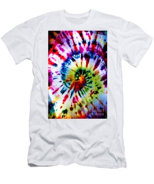 Tie Dyed T-shirt Men's T-Shirt (Slim Fit) by Cheryl Baxter