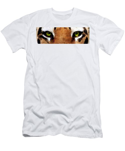 Tiger Art - Hungry Eyes Men's T-Shirt (Athletic Fit)