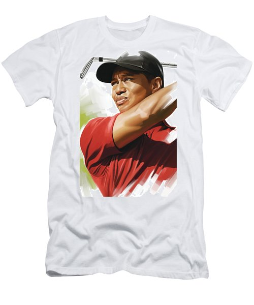 Tiger Woods Artwork Men's T-Shirt (Athletic Fit)