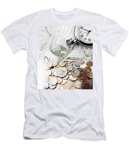 Time Is Money Concept Men's T-Shirt (Athletic Fit)