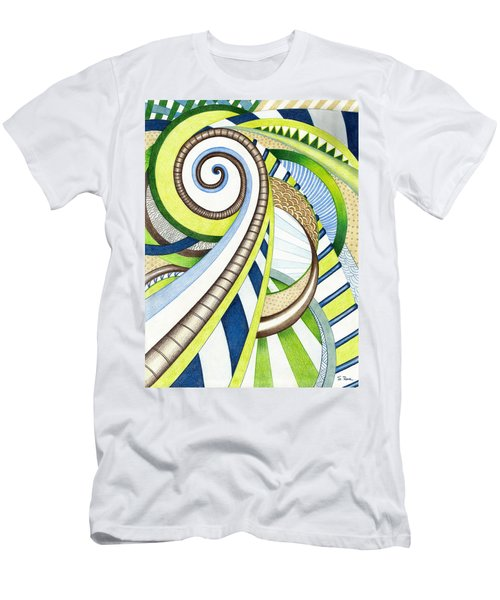 Time Travel Men's T-Shirt (Slim Fit) by Shawna Rowe