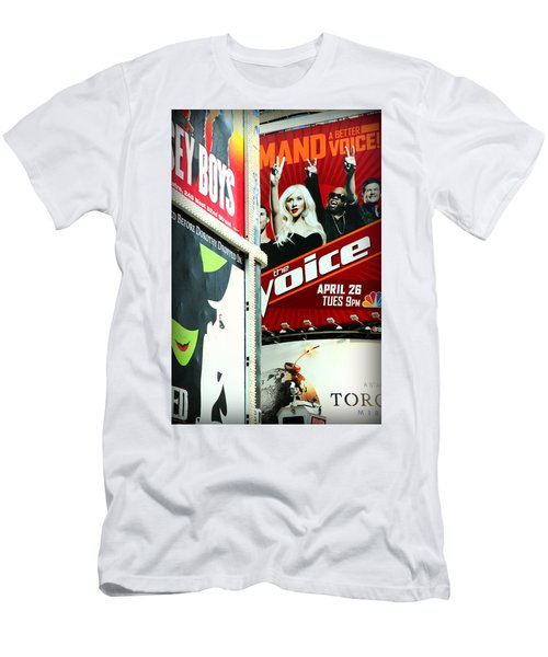 Times Square Billboards Men's T-Shirt (Athletic Fit)