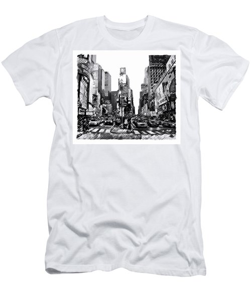 Times Square   New York City Men's T-Shirt (Athletic Fit)