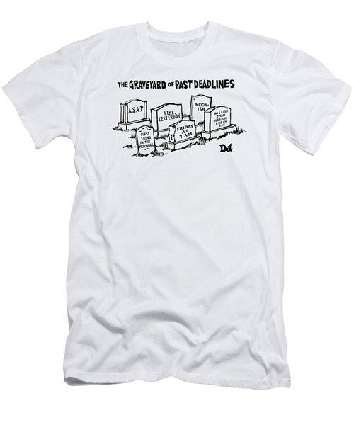 Title: Graveyard Of Past Deadlines.  A Graveyard Men's T-Shirt (Athletic Fit)