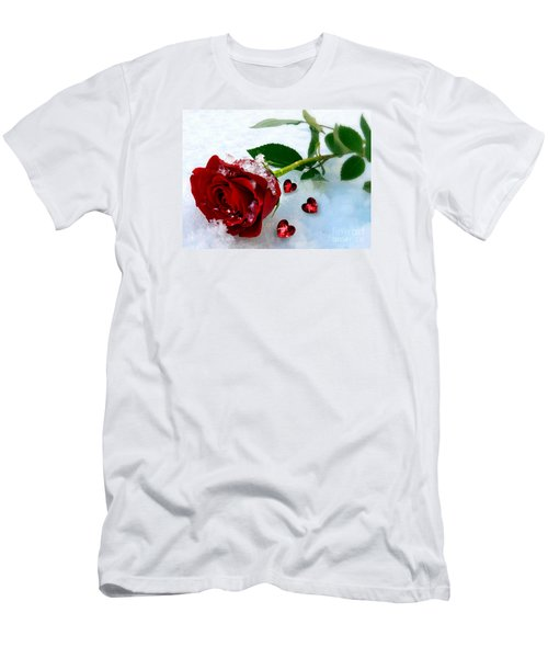 Men's T-Shirt (Slim Fit) featuring the mixed media To Make You Feel My Love by Morag Bates