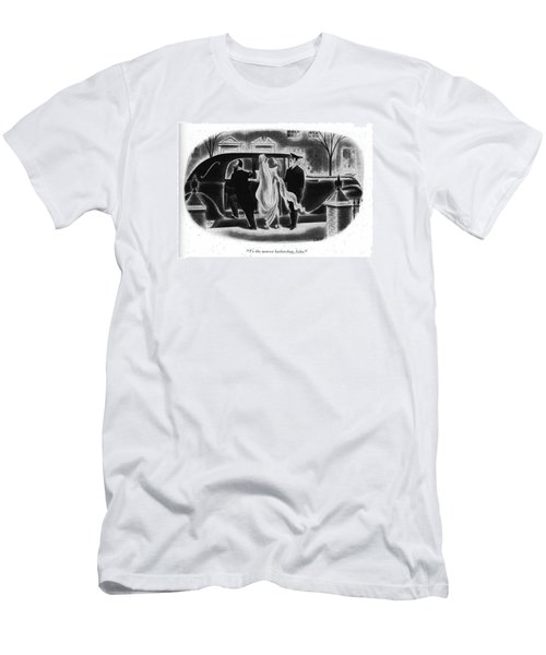 To The Nearest Barbershop Men's T-Shirt (Athletic Fit)