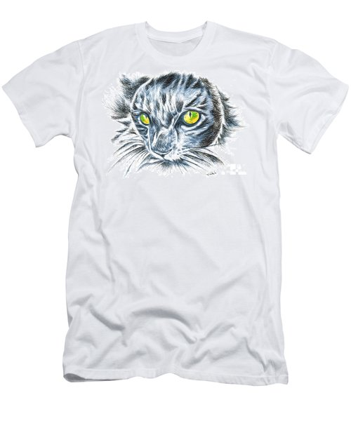 Toby Green Eyed Cat Men's T-Shirt (Athletic Fit)